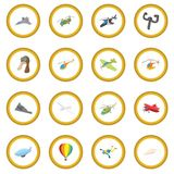 Aviation icon circle. Cartoon isolated vector illustration Stock Images