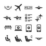 Aviation icon series 6. Flat Design Vector Illustration: Aviation icon series 6 Royalty Free Stock Images