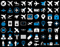 Aviation Icon Set Stock Image