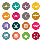 Aviation icon set Stock Photos