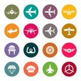 Aviation icon set Stock Photography