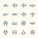 Aviation icon set Stock Photo