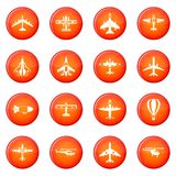 Aviation icons vector set Stock Images