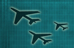 Aviation Industry. In a Blue Abstract Background Stock Photography