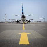 Aviation industry. Picture representing fast movement of aviation industry Stock Images