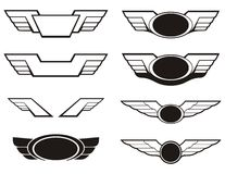 Aviation insignia wings set Royalty Free Stock Photography