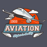 Aviation label t-shirt Stock Photo