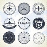 Aviation labels Royalty Free Stock Image