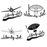 aviation labels set art Stock Image