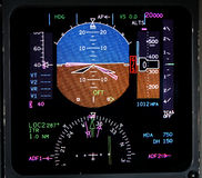Aviation lcd display. Real instrument panel of a jet aircraft Stock Image