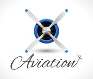 Aviation logo Royalty Free Stock Photos