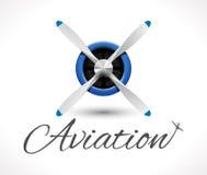 Aviation logo Royalty Free Stock Photos