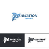 Aviation Logo Design Six. Aviation logo on white background. Can be used for printing or web Stock Photo