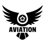 Aviation logo, simple style stock illustration