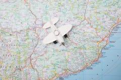 Aviation map Royalty Free Stock Photos