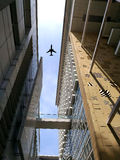 Aviation. Or plane from a see through architecture from, the bottom Stock Photos