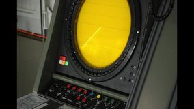 Aviation radiolocator in airshow exhibition. In Gatow military museum, Gatow, Berlin, Germany stock video footage