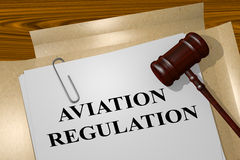Aviation Regulation concept Royalty Free Stock Photography