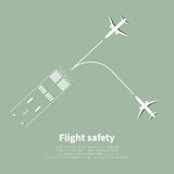 Aviation safety. Infographic. Scene 2. Vector illustration Stock Images