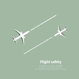 Aviation safety. Infographic. Scene 4. Vector illustration Royalty Free Stock Photo