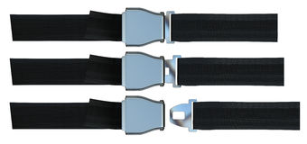 Aviation seat belt Royalty Free Stock Image