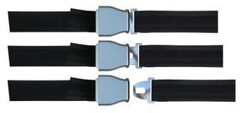Aviation seat belt. Isolated on white vector illustration