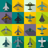 Aviation set icons Royalty Free Stock Photography
