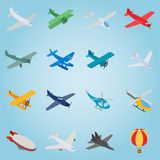 Aviation set icons, isometric 3d style Royalty Free Stock Photography