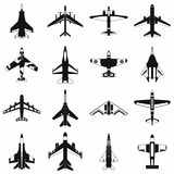Aviation set icons Royalty Free Stock Images