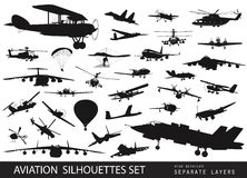 Aviation set Royalty Free Stock Photo