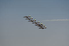 Aviation show. In blue sky Stock Image