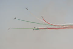 Aviation show. In blue sky Stock Images