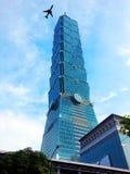 Aviation and Skyline In Taipei, Taiwan Stock Photos