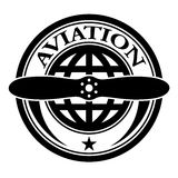 Aviation stamp. Illustration for the web Royalty Free Stock Images