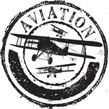 Aviation stamp Royalty Free Stock Photo