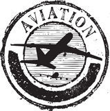 Aviation stamp Royalty Free Stock Photography