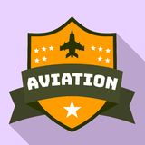 Aviation star logo, flat style. Aviation star logo. Flat illustration of aviation star vector logo for web design royalty free illustration