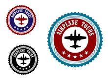 Aviation symbol with airplane Stock Image