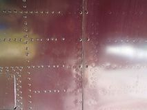 Aviation textures plating of aircraft and helicopter. Rivets Stock Photos