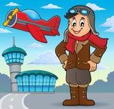 Aviation theme image 3. Eps10 vector illustration Stock Images