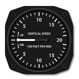Aviation variometer vertical speed indicator. Illustration for the web Royalty Free Stock Photography