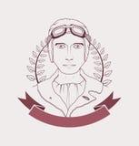 Aviator emblem vector illustration