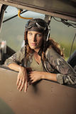 Aviator female Stock Image