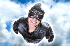 Aviator flying Stock Images