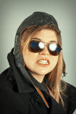 Aviator Girl Portrait Royalty Free Stock Image