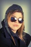 Aviator Girl Portrait Stock Images