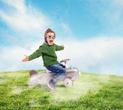 Aviator kid Royalty Free Stock Photo