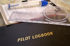 Aviator logbook Stock Photography