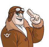 Aviator saluting. Illustration of an Aviator saluting Stock Images