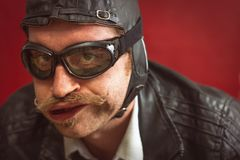 Aviator Silly Expression stock images